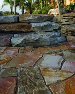 stone steps closeup