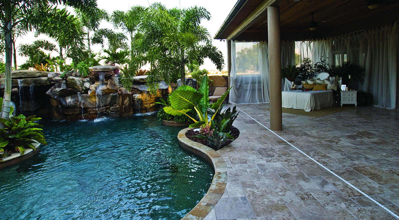 Outdoor Bedroom Lagoon Pool