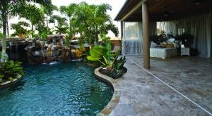 outdoor bedroom lagoon pool