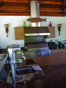 outdoor kitchen closeup
