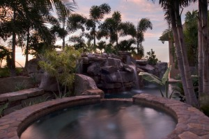 Stone Spa with Swimming Pool