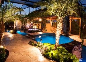 Natural Stone Swimming Pool and Outdoor Design