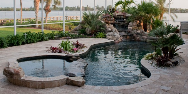Extreme Swimming Pool Remodel from Rectangular to Curves in Osprey, Florida