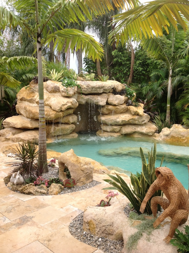 Lagoon Style Pool Designs lagoon swimming pool designs lagoon swimming pool designs classia for style Tropical Style Pool With Natural Rock Waterfall